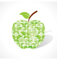 Green butterfly make a apple vector image vector image