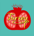 hand-drawn colorful turkish lettering vector image