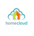 home cloud arrow logo vector image vector image