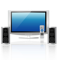 home theatre vector image vector image