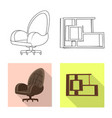 isolated object of furniture and work logo vector image vector image