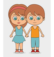 Kids friends design vector image vector image