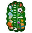 kids height chart ruler growth meter school items vector image vector image