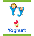 learning alphabet y vector image vector image
