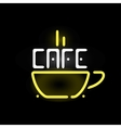Light neon cafe label vector image vector image