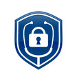 lock doctor shield logo blue symbol design vector image vector image