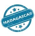MADAGASCAR round stamp vector image