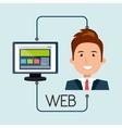 man cartoon web page vector image