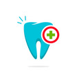 medical tooth logo dental logotype idea vector image vector image