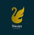 minimalist flying swan logo simple and luxury vector image vector image
