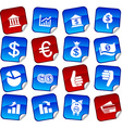 MOney stickers vector image vector image