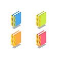 notebook icon symbol vector image vector image