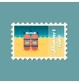 Oxygen tank flat stamp vector image vector image