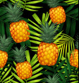 pineapples seamless patter3 vector image vector image