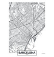 poster map city barcelona