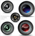 professional camera lens - set vector image