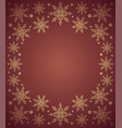 red new year background card with snowflake vector image