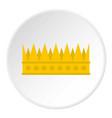 regal crown icon circle vector image vector image