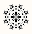sacred geometry 0077 vector image vector image