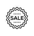 sale - line design single isolated icon vector image vector image