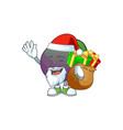 santa with gift star apple character in cartoon vector image vector image