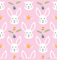 seamless pattern for easter with rabbit and eggs vector image vector image