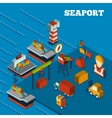Seaport Isometric Set vector image vector image