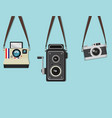 set hanging old camera vector image vector image