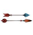set multicolored native arrows vector image