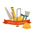 Set of flat construction tools vector image vector image