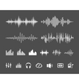 Sound waveforms vector image vector image