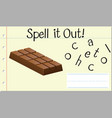 spell english word chocolate vector image vector image