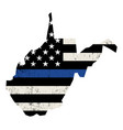 State west virginia police support flag