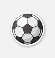 sticker black and white soccer ball vector image