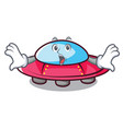 surprised ufo mascot cartoon style vector image