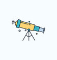 telescope astronomy space view zoom flat icon vector image