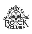 tshirt print skull punk hairstyle mascot vector image vector image