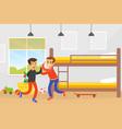 two boys fighting in room disagreement between vector image vector image