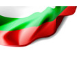 waving flag of bulgaria close-up with shadow on vector image vector image