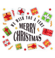 we wish you merry christmas greeting card poster vector image vector image