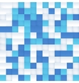 White and blue mosaic seamless pattern vector image vector image