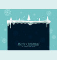 winter christmas snowflakes background with text vector image