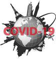 world map coronavirus spread vector image vector image