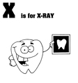 X ray cartoon with letter vector image