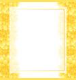 yellow dahlia banner card border style 2 vector image vector image