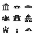 dwelling icons set simple style vector image