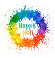 indian festival happy holi vector image