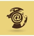 global connection isolated icon design vector image