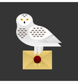 owl holding a holding a letter vector image