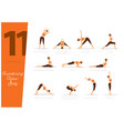 11 poses to awaking your body vector image vector image